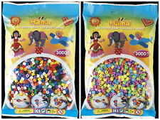 Hama 3000 Midi Beads in a bag solid mix pastel mix pink red blue green purple