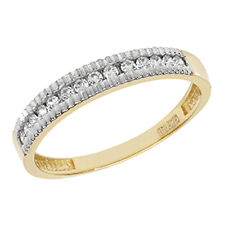 9ct Yellow Gold Clear Cubic Zirconia Fancy Eternity Design Ring RN867