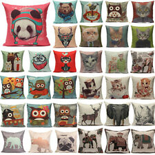 Animal World Cotton Linen Throw Pillow Case Cushion Cover Home Sofa Car Decor