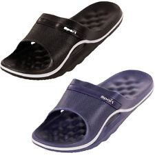 Mens Slip On Sandals Sport Slide Massage Shower Shoes Outdoor Pool Spa Gym House