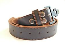 Leather Belt Snap Type Quality Genuine Leather Brown Stitched Belt - No Buckle