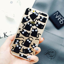 Cute New cartoon Funny 3D eye cat popcorn back case cover for iphone 6 6S 6Splus