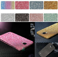 Bling Crystal Diamond Glitter Full Body Wrap Decal Sticker Case Skin For Samsung
