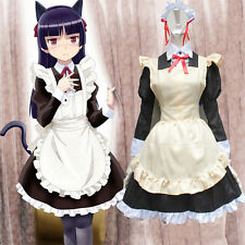 Adult Japanese Sweet Maid Dress Cosplay Maid Costume Sexy Lolita Apron Dress Set