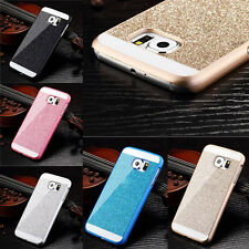 Luxury Crystal Gold Bling Rhinestone Hard Case Cover for Samsung Galaxy S6 Edge