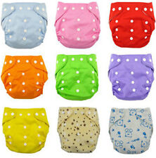 Newborn Adjustable Baby Infant Reusable Lot Baby Washable Cloth Diaper Nappies