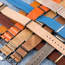 CLEARANCE SALE - Oiled Leather Nato Replacement Watch Bands Straps!