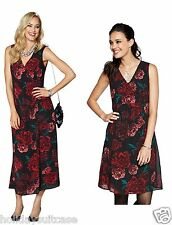 NEW LADIES WOMANS SEXY BEST CRUISE PARTY EVENING GEORGETTE DRESS SIZE 6-20 UK