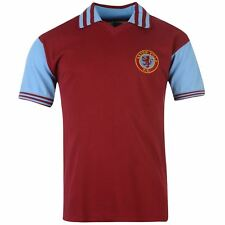 Aston Villa FC 1981 Home Jersey Mens Score Draw Claret EPL Football Soccer