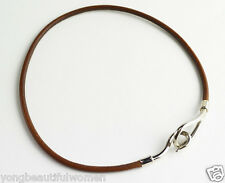 AUTHENTIC HERMES BROWN / BLACK LEATHER JUMBO CHOKER / BRACELETS **YOU CAN CHOOSE
