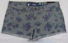Womens Juniors new Celebrity Pink Jean shorts size 1 Floral Grea nwt