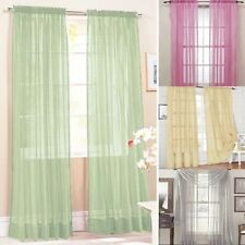 Door Room Voile Window Curtain Sheer Panel Drapes Scarfs Curtain Many-Colors NEW
