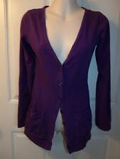 WOMEN'S LAYERING TOP PURPLE PREPPY BOYFRIEND STYLE SMALL LONGER