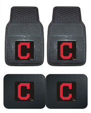 Cleveland Indians Car Mats 4 Pc Front and Rear Heavy Duty Vinyl