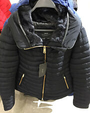 ZARA ANORAK WITH FAUX FUR COLLAR JACKET NAVY BLUE XS-XXL  Ref. 8073/233