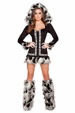 Native American Babe Costume Indian Costume Halloween Costume Hooded Roma 4581