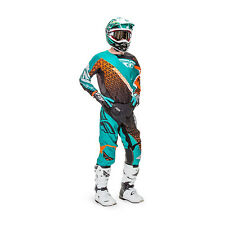 Fly Racing Motocross Pants + Jersey 2016 - Kinetic Trifecta - black teal