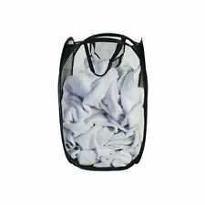 New Compact Lightweight Pop Up Easy Open Mesh Laundry Clothes Hamper Basket Wash