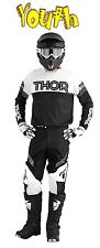THOR Phase Kit YOUTH HYPERION BLACK WHITE 2016 MOTOCROSS ENDURO JERSEY & PANT