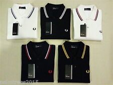 Fred Perry Polo T-Shirt For Men - Black, Navy, White - S M L XL