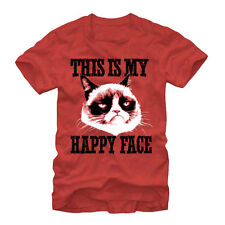 Grumpy Cat This is Happy Mens S Graphic T Shirt - Fifth Sun