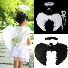 3Pcs/set Angel Fairy Feather Wings Wand Halo Adults Kids Fancy Dress Costume M71