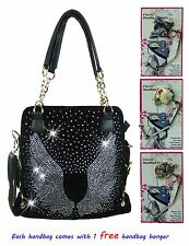 Lady Allure Rhinestone Handbag - Angel Wing - With Free Quality Handbag Hanger
