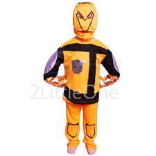 Transformers Bumblebee Characters Boy Fancy Party Costume Outfit Size 3T-8 FC010