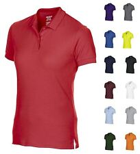 Womens Polo Shirt Casual or Sports DryBlend Wicking Short Sleeve Top Golf Work