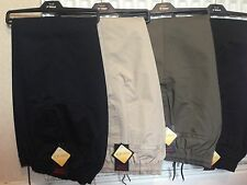 MENS ELASTICATED WAIST RUGBY TROUSERS PANTS W32-W48 L 27 29 31