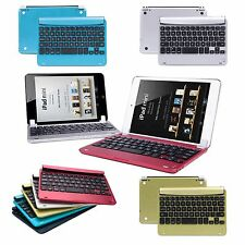For Apple iPad Mini 3 2 1 Aluminum Case Stand Cover Bluetooth Keyboard Dock Film