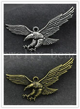 3/10/50pcs Antique Silver fierce Eagle Jewelry Finding Charms Pendant 50x25mm