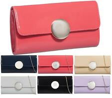 Shu Desire Ladies Glossy Envelope Evening Clutch Bag Prom Wedding Party Bag