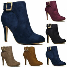Fashion WOMENS LADIES PLATFORM STILETTO HEEL PARTY HIGH HEEL ANKLE SHOES SIZE UK