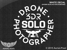 3DR Solo Drone Photographer Window or Case Decal Sticker Quadcopter UAV GoPro