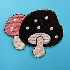 1 Mushroom Polka Dot Food Iron on Sew Patch Cute Applique Badge Embroidered Cute
