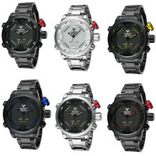 Classic LED Digital Date Day Alarm Men's Quartz Army Military Sport Wrist Watch