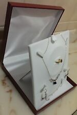 1 x Large Gift Box Display for Complete Jewellery Set White or Maroon