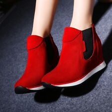 Casual Women's Inside Wedge Heel High Top Shoes Comfort Loafers Fashion Sneakers