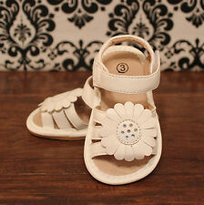 White Toddler Girls Velcro Squeaky Sandals Shoes, 3, 4, 5, 6, 7, 8, 9