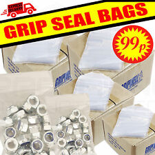 Resealable Gripseal Grip Seal Bags Poly Polythene Plastic Plain Clear 20 Sizes