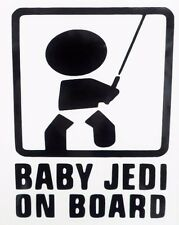 Baby Jedi on Board Star Wars Cool Car Window Vinyl Decal Sticker Choose Color
