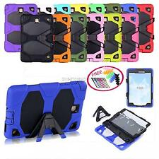 For Samsung Galaxy Tab A 8 inch SM-T350 Rugged Hybrid Hard Case Cover Stand Amor