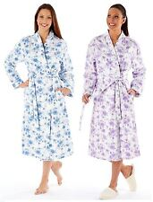 Ladies Rose Floral Brushed 100% Cotton Wincyette Gown Robe Wrap LN303
