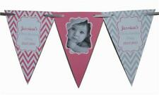 PERSONALISED Birthday Boy Girls BUNTING Banner 1st 2nd 5th 30th any colour Photo