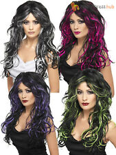 Ladies Long Wavy Gothic Ghost Witch Wig Halloween Fancy Dress Costume Accessory