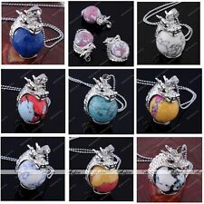 Dragon Wrap Inlay Multicolor Howlite Turquoise Bead Gems Pendant for Necklace