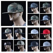 New Unisex Snapback Camouflage Mesh Fashion Baseball Cap Hat Trucker Flat Bill