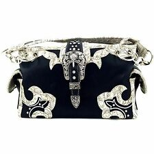 Western Cowgirl Belt Buckle Concealed Carry Shoulder Classic Chain Strap Handbag