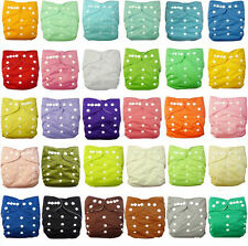 Sweet New 1 SGS Reusable Baby Washable Cloth Diaper Nappy +1 INSERT pick color